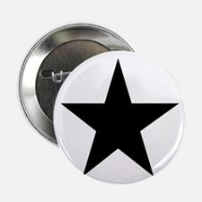 """Black 5-Pointed Star 2.25"""" Button"""