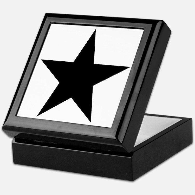 Black 5-Pointed Star Keepsake Box