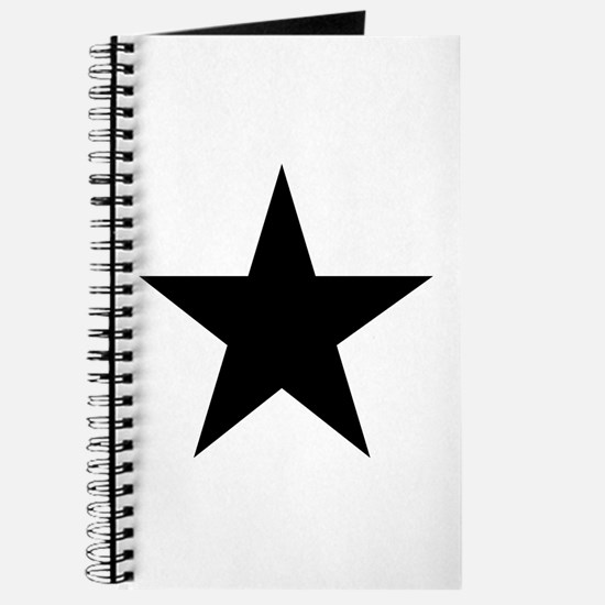 Black 5-Pointed Star Journal