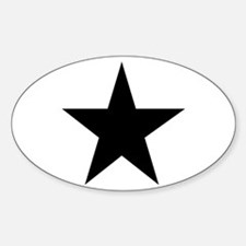 Black 5-Pointed Star Decal