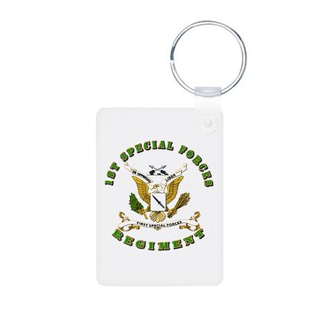 SOF - 1st SF Regiment Aluminum Photo Keychain