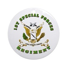 SOF - 1st SF Regiment Ornament (Round)