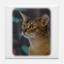 Abyssinian Cat AA025D-018 Tile Coaster