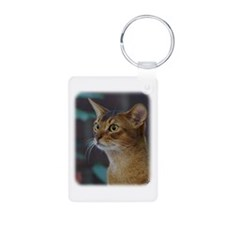 Abyssinian Cat AA025D-018 Keychains