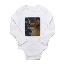 Abyssinian Cat AA025D-018 Long Sleeve Infant Bodys