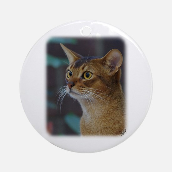 Abyssinian Cat AA025D-018 Ornament (Round)