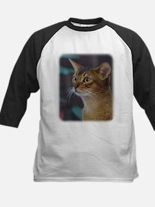Abyssinian Cat AA025D-018 Kids Baseball Jersey
