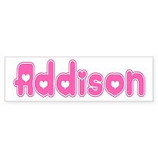 """""""Addison"""" Bumper Bumper Sticker"""