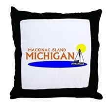 Unique Northern michigan Throw Pillow