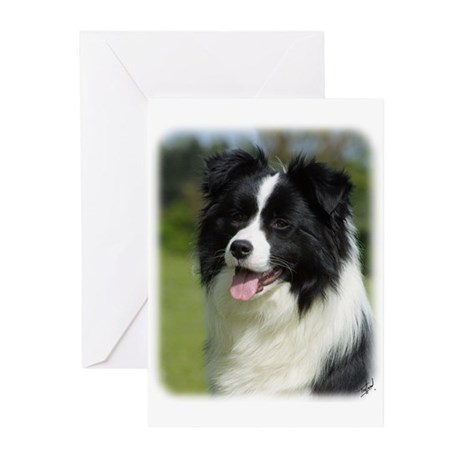 Border Collie 9T085D-102 Greeting Cards (Pk of 20)