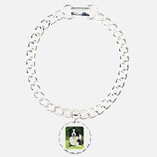Border Collie 9A014D-14 Charm Bracelet, One Charm