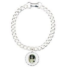 Border Collie 9A14D-19 Charm Bracelet, One Charm