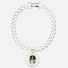 Border Collie 9A14D-19 Charm Bracelet, One Charm