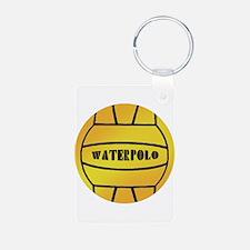 Water Polo Ball Aluminum Photo Keychain