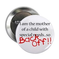 "Back Off!! 2.25"" Button (10 pack)"