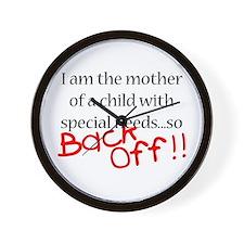 Back Off!! Wall Clock
