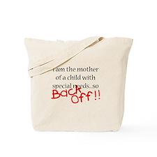 Back Off!! Tote Bag