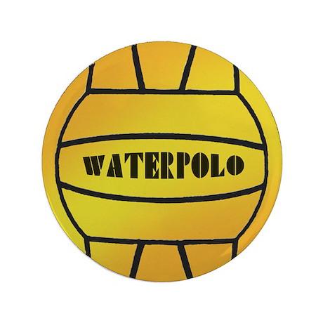 """Water Polo Ball 3.5"""" Button"""