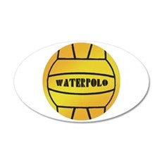 Water Polo Ball 38.5 x 24.5 Oval Wall Peel