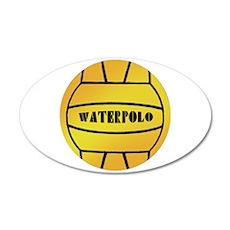 Water Polo Ball 22x14 Oval Wall Peel
