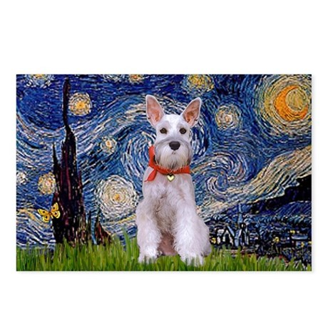 Starry Night Schnauzer Postcards (Package of 8)