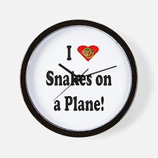 I Heart Snakes On A Plane Wall Clock