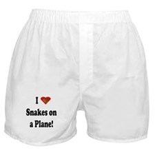 I Heart Snakes On A Plane Boxer Shorts