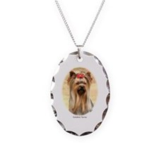 Yorkshire Terrier Necklace Oval Charm