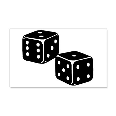 Vintage Dice Icon 22x14 Wall Peel