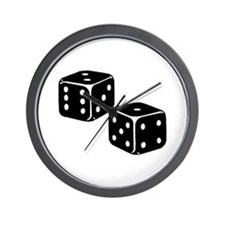 Vintage Dice Icon Wall Clock