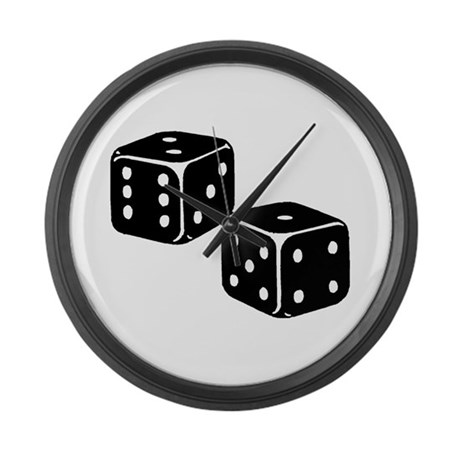 Vintage Dice Icon Large Wall Clock