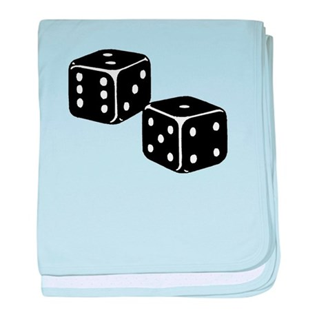 Vintage Dice Icon baby blanket