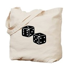 Vintage Dice Icon Tote Bag