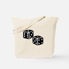 Vintage Dice Icon Tote Bag