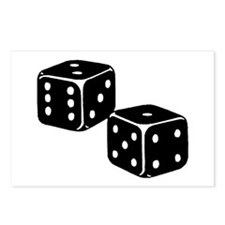 Vintage Dice Icon Postcards (Package of 8)