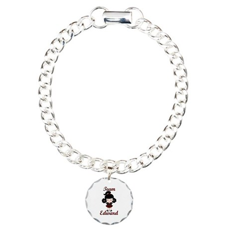 Team Edward Cheerleader Charm Bracelet, One Charm