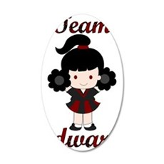 Team Edward Cheerleader 38.5 x 24.5 Oval Wall Peel