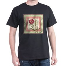 Vintage Red Wildflower Corncockle T-Shirt