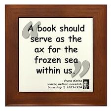 Kafka Book Quote Framed Tile