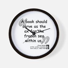 Kafka Book Quote Wall Clock