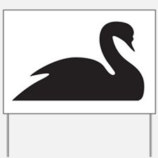 Black Swan Silhouette Yard Sign