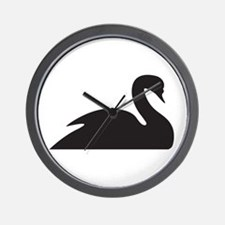 Black Swan Silhouette Wall Clock