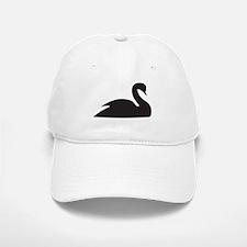 Black Swan Silhouette Baseball Baseball Cap