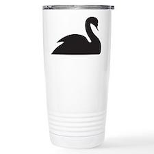 Black Swan Silhouette Stainless Steel Travel Mug