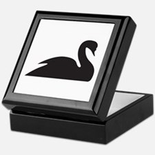 Black Swan Silhouette Keepsake Box