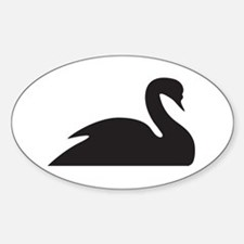 Black Swan Silhouette Decal