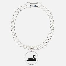 Black Swan Silhouette Bracelet