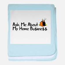 Home Business - Ask Me baby blanket