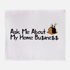 Home Business - Ask Me Throw Blanket