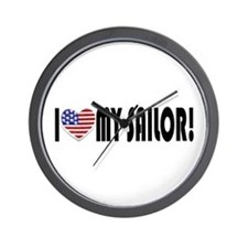 I Heart My Sailor Wall Clock